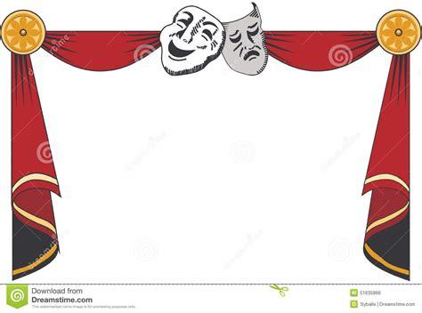 rideaux en th 233 226 tre avec des masques illustration de vecteur image 51635866