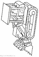 Bulldozers sketch template