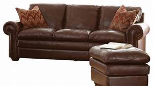 steve silver yosemite sofa in chestnut leather With yosemite sectional sofa with ottoman