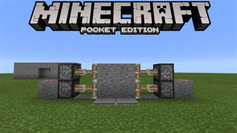 how to make a secret door in minecraft pe secret door tutorial 1 0 3 redstone creation