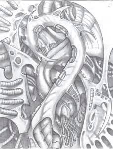 Mechanical Skull Tattoo Designs Drawings