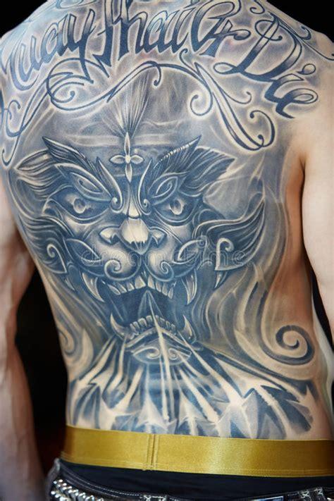 tattooed male    moscow international tattoo