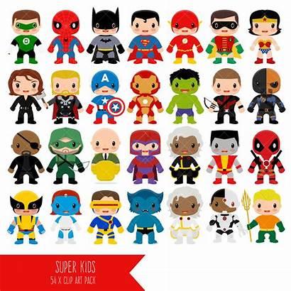 Superhero Clip Super Hero Clipart Superheroes Digital