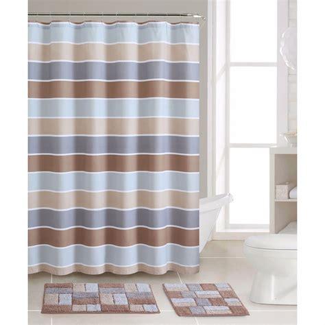 striped shower curtain striped shower curtain bath rug mat set cotton curtains