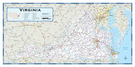 awesome va state map galleries printable map