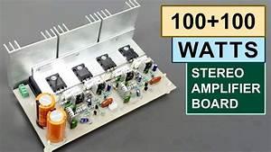 100 100 Watts Stereo Amplifier Board Diy Toshiba 2sc5200