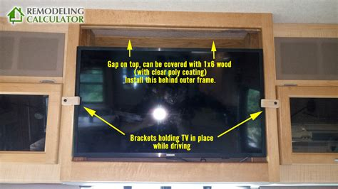 rv flat screen tv securing brackets prevent movement