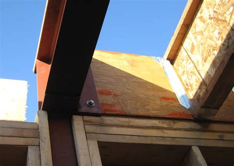 tji floor joist hangers structure steel to tji connection 171 home building in
