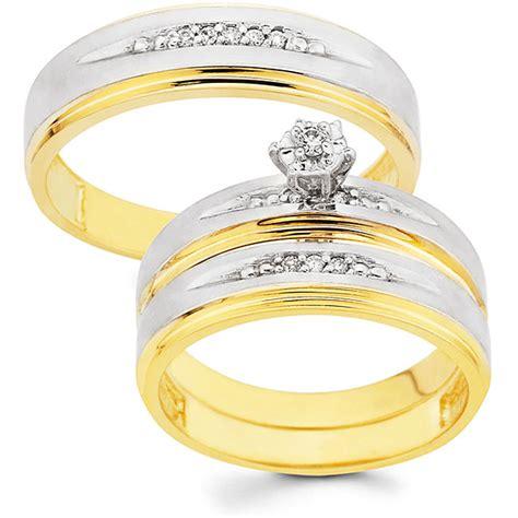 trends wedding ring set  men  women
