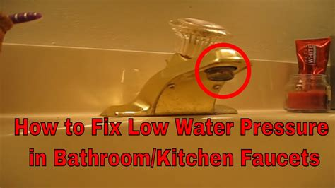 clear  clogged bathroom  kitchen faucet aerator