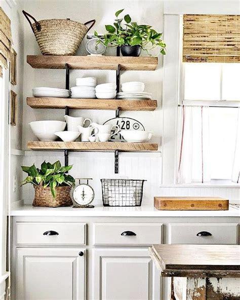etageres ouvertes dans la cuisine  idees
