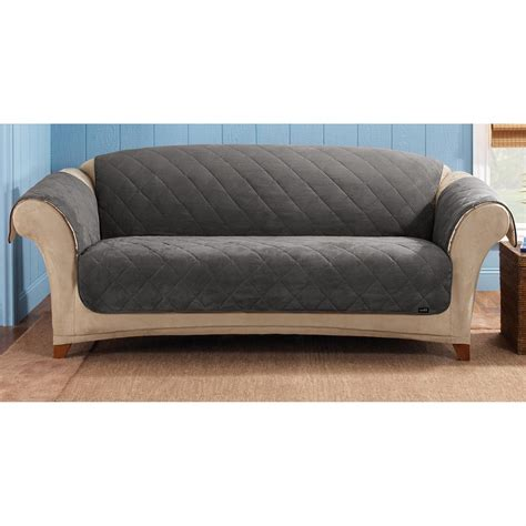 sofa cover pet sure fit 174 reversible suede sherpa sofa pet cover 292849 furniture covers at sportsman s guide