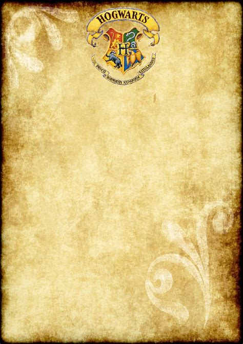 printable harry potter party blank parchment  size