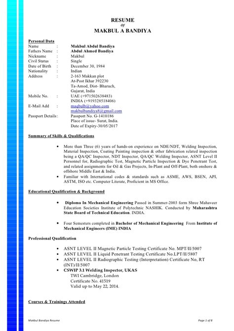 Welder Fabricator Resume Exles by Pipe Welder Resume Sle