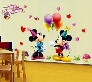 new 2016 wall sticker cartoon sticker cute mickey and With cute mickey and minnie wall decals