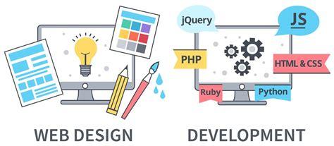 difference  web design  web development