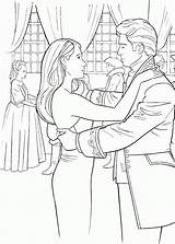 Coloring Pages Enchanted Giselle Ballroom Dancing Edward Prince Template Popular sketch template