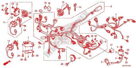 wire harness battery for honda pcx 150 2014 honda motorcycles atvs genuine spare parts catalog