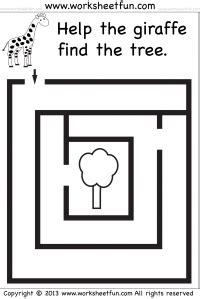 beginner mazes preschool and kindergarten 12 worksheets homeschool stuff preschool and