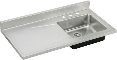 kitchen sink with drainboard and backsplash elkay s4819r3 48 inch single bowl stainless steel sink top 9585