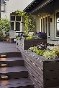 Composite Deck Bench Designs 117 Best Built In Deck Seating Benches Planters Images