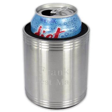 Personalized Stainless Steel Can Cooler   Can Coolers