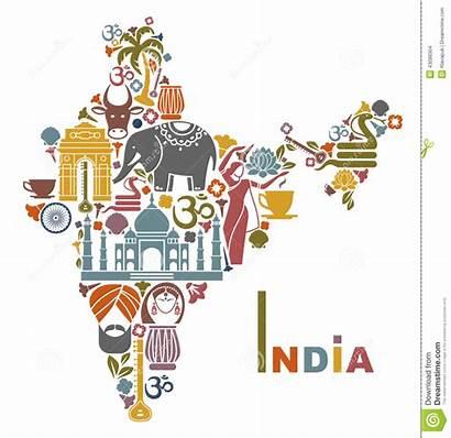 India Map Symbols Form Illustration Culture Symbol
