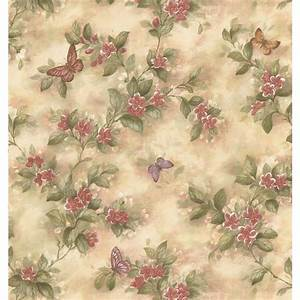 NuWallpaper Taupe Dandelion Peel and Stick Wallpaper ...