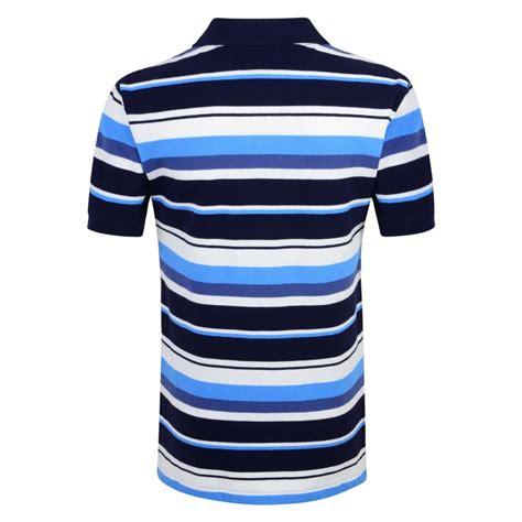 ralph lauren boys navy polo shirt with blue and white stripe print and logo ralph lauren from