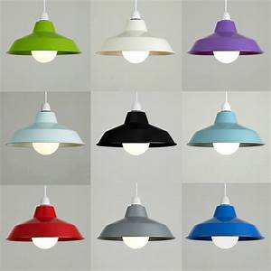 Vintage, Retro, Metal, Cafe, Style, Ceiling, Pendant, Light, Lamp, Shades, Lampshades, New