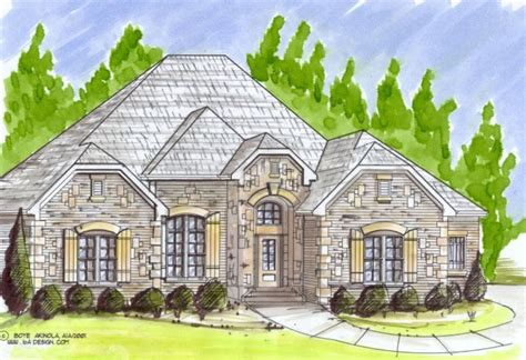 custom country house plans spectacular country ranch villa