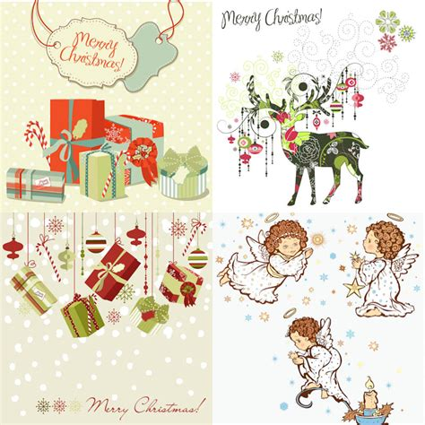 decorative christmas cards vector part 2 vector graphics