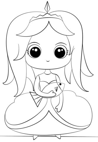 princess  fish coloring page  printable coloring pages