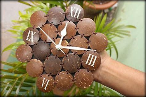 coconut shell clock arts  crafts  india