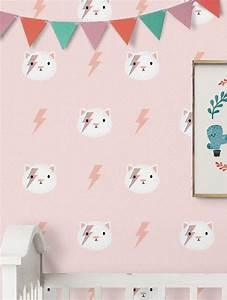 Trophée Mural Peluche : chambre enfant papier peint petits cactus kitty et troph e peluche kids pinterest deco ~ Teatrodelosmanantiales.com Idées de Décoration