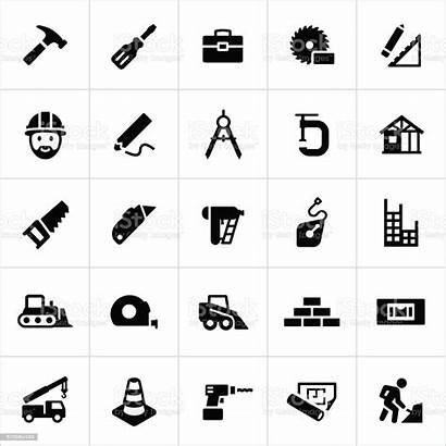 Residential Commercial Construction Icons Vector Saw Circular