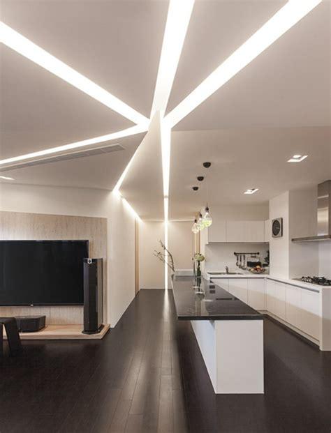 plafond de cuisine design maison stylée contemporaine à l 39 aide de plafond moderne