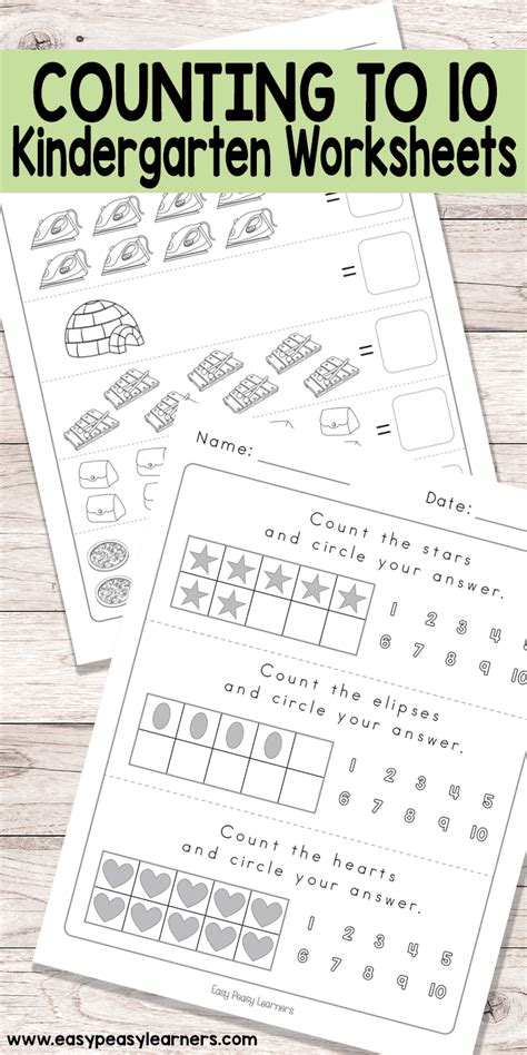 Counting To 10 Worksheets  Kindergarten Math Worksheets  Easy Peasy Learners