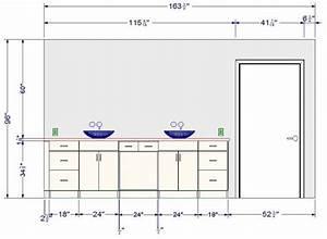 meuble salle de bain quelle hauteur With meuble hauteur salle de bain