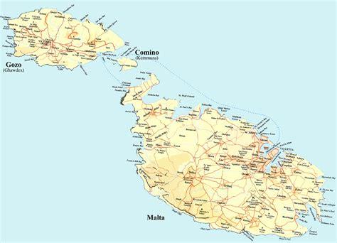 maps  malta detailed map  malta  english tourist