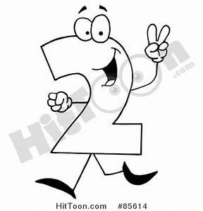 Black And White Number 2 Clipart - Clipart Suggest
