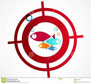 Hunter Fish Logo Abstract Background Stock Vector - Image ...