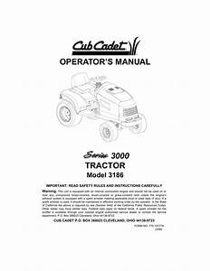 Cub Cadet 3186 Lawn Mower User Manual