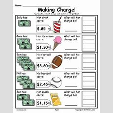 Free Printable Making Change Money Worksheets  2 Versions  Worksheets, Activities, & Lesson