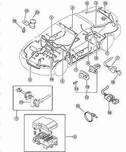 1997 Chrysler Sebring Wiring  Chassis  Front  With Keyless