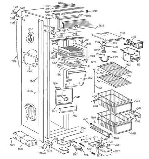 ge monogram built  refrigerator parts diagram