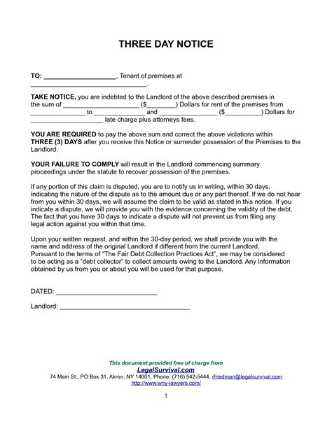 Renters 30 Day Notice Template by 10 Best Images Of 30 Notice To Landlord Letter 30 Day