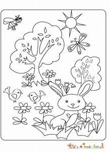 Petit Lapin Jouant Dans Le Jardin Colorier Tte Modeler
