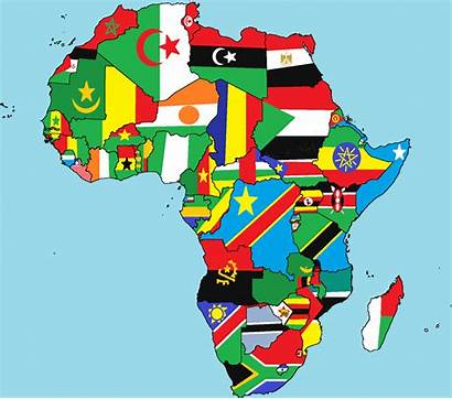 Africa African Continent Map Corruption Flags Perception