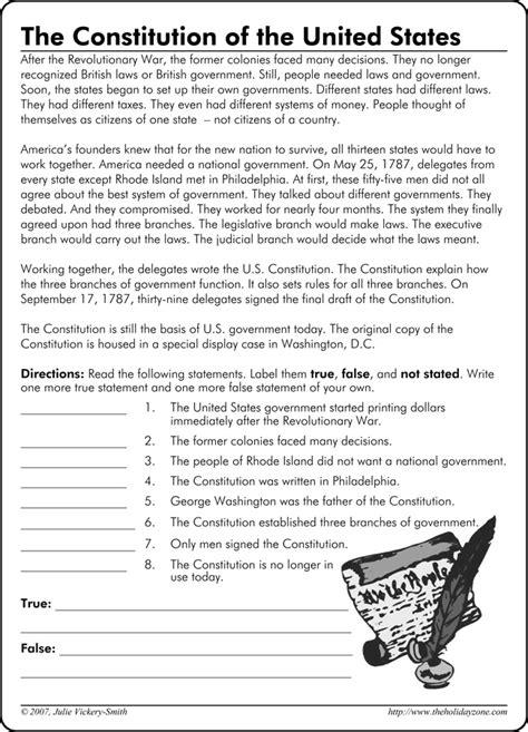 constitution worksheet worksheets releaseboard free